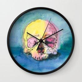 Colorful Skull 3 Wall Clock