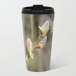 Fluffy willow branch. Travel Mug