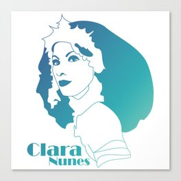 Clara Nunes Canvas Print