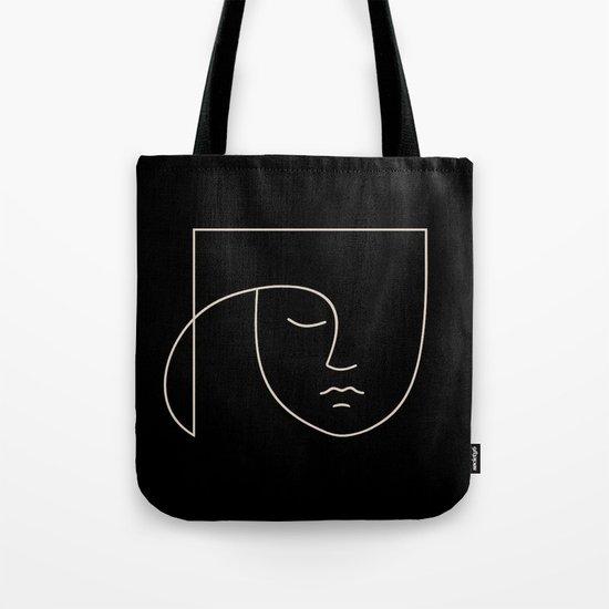 Minimal Line Portrait - Black by midcenturymodern