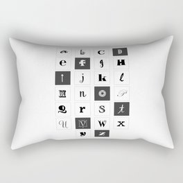 Alphabet Print Rectangular Pillow