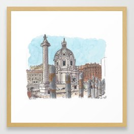 Trajan's Forum, Rome Framed Art Print