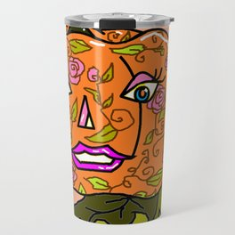 Pretty Pumpkin Travel Mug