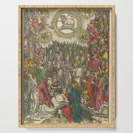 Albrecht Dürer - The Apocalypse (1498) - The Whore of Babylon Serving Tray