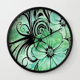 paint the fleur Wall Clock