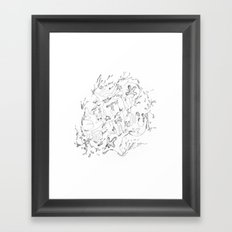 Liquid Animals Framed Art Print