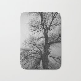Nature Photography Weeping Willow | Lungs of the Earth | Black and White Bath Mat