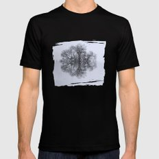 Trees of Reflection Mens Fitted Tee MEDIUM Black