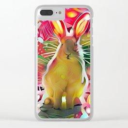 Stalker Rabbit Clear iPhone Case