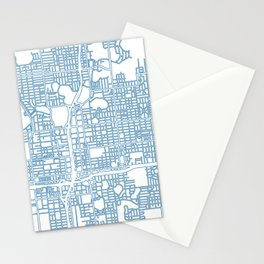 Street MAP Orlando // Blue Stationery Cards