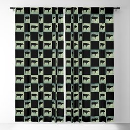 COW CHECK Blackout Curtain