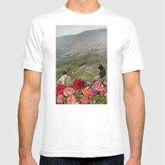 Life is a Bed of Roses Mens Fitted Tee SMALL White