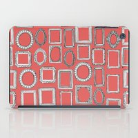 frames iPad Cases featuring picture frames coral by Sharon Turner