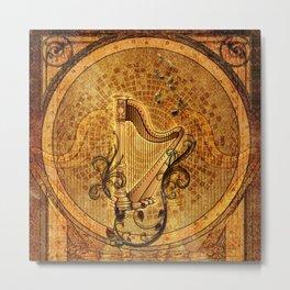 Golden harp Metal Print