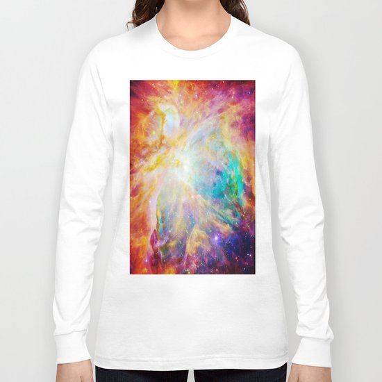 nEBula : Colorful Orion Nebula Long Sleeve T-shirt
