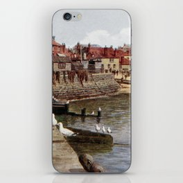 Aquarelle St Ives Cornwall Seagulls in the harbour iPhone Skin