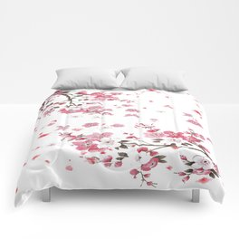 Plum Blossoms in Spring (Ume) Comforters