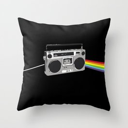 Dark Side of the Boombox Throw Pillow