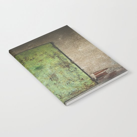 Rusty Green Door Notebook