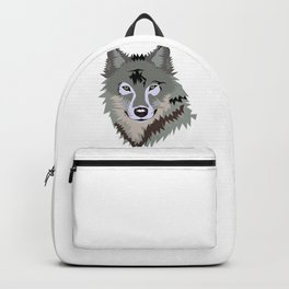 Wolf Face Art Backpack