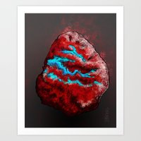 The Fire Rock Art Print