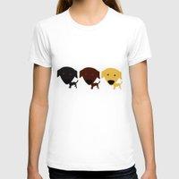 labrador T-shirts featuring Labrador Retriever dog by Verene Krydsby