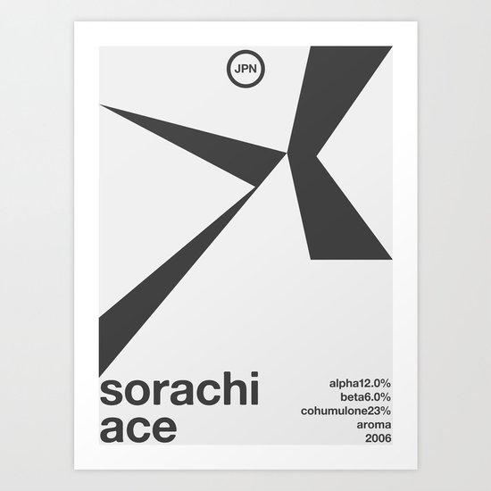 sorachi ace single hop Art Print