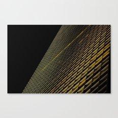 Night Building Facade Canvas Print