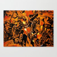 band Canvas Prints featuring band by borma toyen