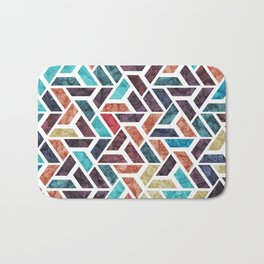 Seamless Colorful Geometric Pattern XVI Bath Mat