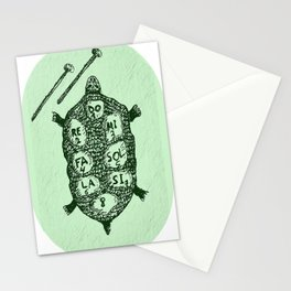 Turtle on Green Stationery Cards