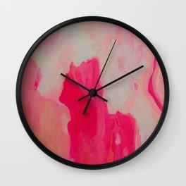Summer Rosé Wall Clock