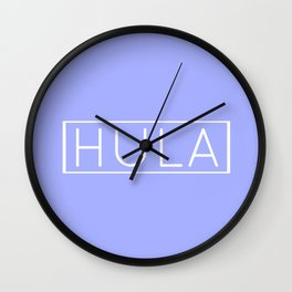 HULA (PERIWINKLE) Wall Clock