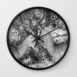 Gazelle (Black and White) Wall Clock