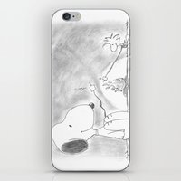 woodstock iPhone & iPod Skins featuring Snoopy and Woodstock by Dennis Rios