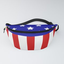 Patriotic stars and stripes Fanny Pack