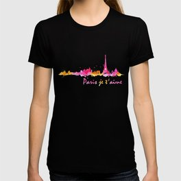 Paris Je t'aime I Love You Paris Watercolor graphic T-shirt