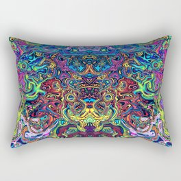 Abstract digital elephant Rectangular Pillow