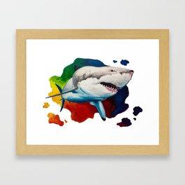 Akula (Great White) Framed Art Print