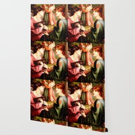 """Dante Gabriel Rossetti """"The Bower Meadow"""" Wallpaper"""