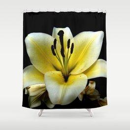 Wonderful Flower yellow and black Shower Curtain