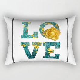 Love Floral Letter Rectangular Pillow