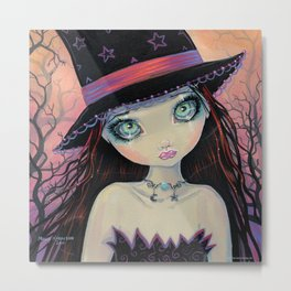 Bright Eyed Witch Pop Fantasy Art by Molly Harrison Metal Print