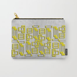 Mid Century Oblongs Concrete Mustard Yellow Ochre Carry-All Pouch