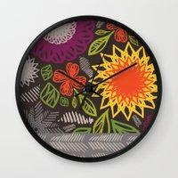 spice Wall Clocks featuring Spice Market by Helen Billett