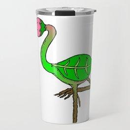 Flamingo Flower Travel Mug