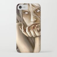 tina fey iPhone & iPod Cases featuring moth fey by laya rose