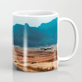 Teal Mountains Highway Coffee Mug
