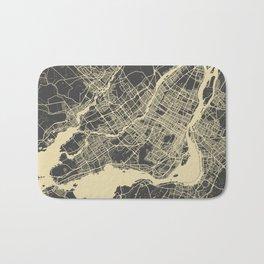 Montreal Map yellow Bath Mat