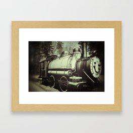 Caboose Vintage Framed Art Print